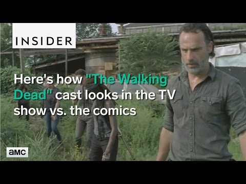 Walking Dead TV characters compared to the comics