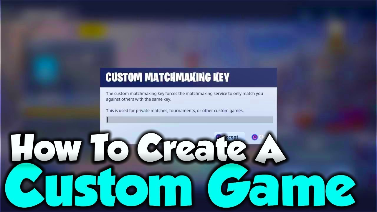 how to use custom matchmaking in fortnite pc