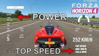 TOP 10 Fastest Cars in Forza Horizon 4 | TOP SPEED & Insane Accelerations!