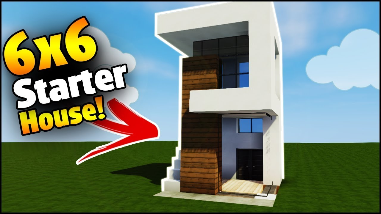 Minecraft house tutorial 6x6 modern house best house for Modern house 6x6