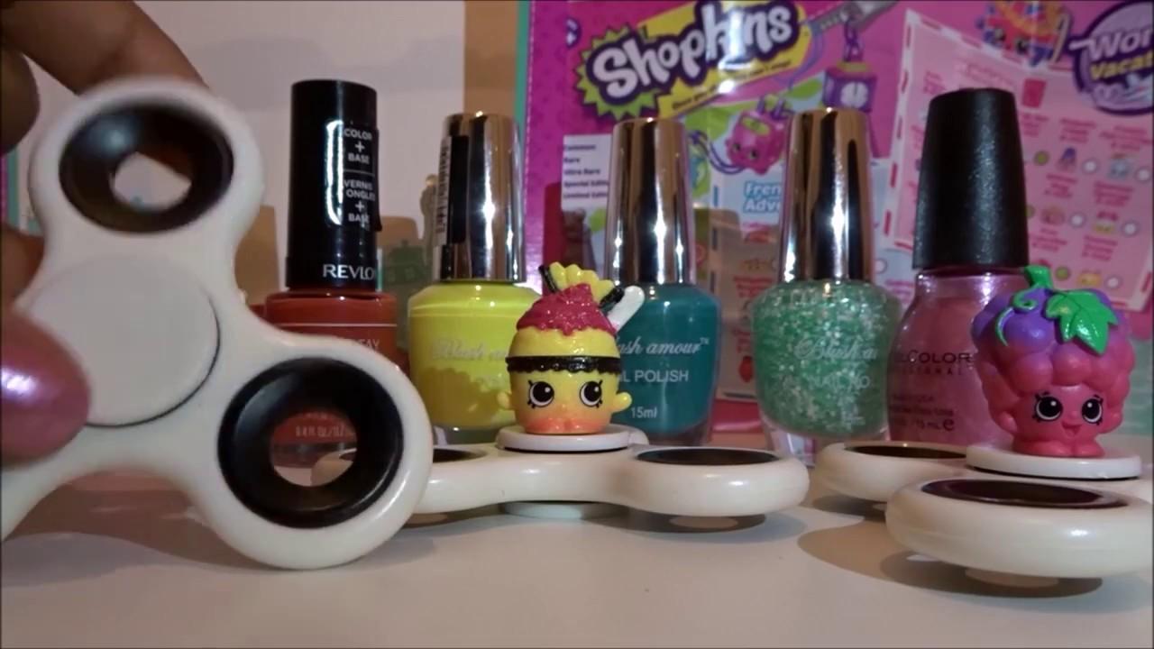 Diy nail polish painted shopkins inspired fidget spinners do it diy nail polish painted shopkins inspired fidget spinners do it yourself craft video solutioingenieria Images