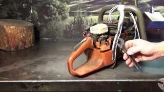 The chainsaw guy shop talk repair leaking oiler Husqvarna 357 359 chainsaw