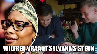 Wilfred belt met Sylvana Simons voor Radioring
