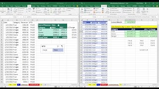 Mr Excel & excelisfun Trick 181: Month To Date: PivotTable or Excel Formulas?