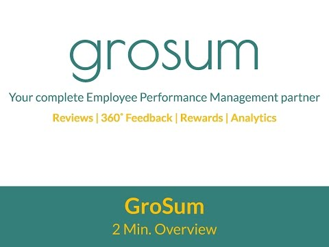 What you get with GroSum - 2 Mins. Overview