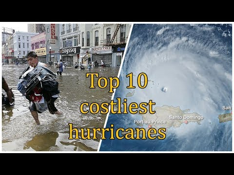Top 10 costliest hurricanes in US history | Deadliest Weather Caught on Camera Irma Harvey Katrina