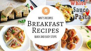 5 Quick Indian Breakfast Recipes - Evening Snacks Recipes - Indian Vegetarian Recipes - Compilation-