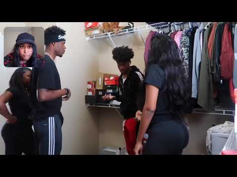 Chris and tray/ Caught in pregnant sister's underwear drawer prank/Reaction