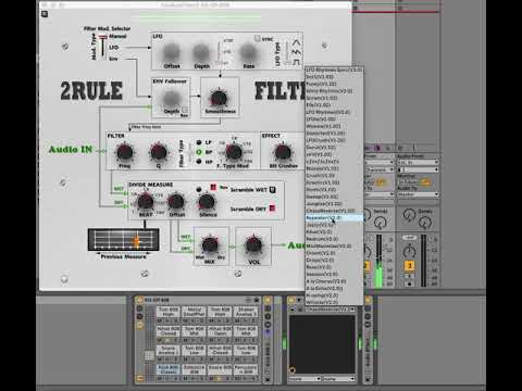 2RuleFilter with new GUI and new presets for vst