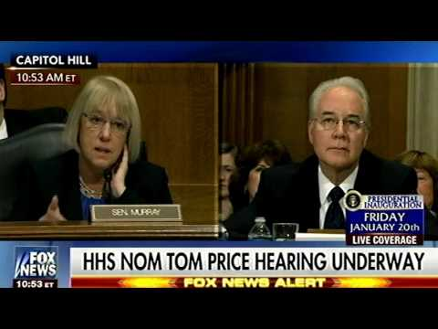 Sen Patty Murray Trips All Over Her Own Lame Line of Attack While Questioning Tom Price as HHS Head