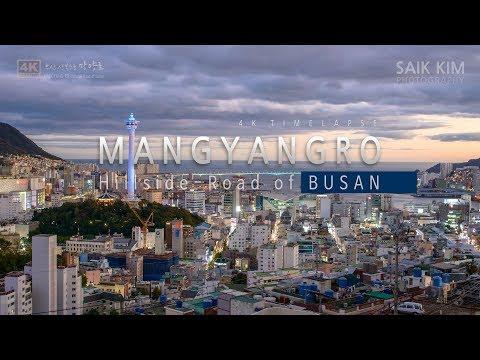 Mangyangro, The Hillside Road of Busan 4K Day to Night Timelapse (부산 산복도로 망양로 타임랩스)