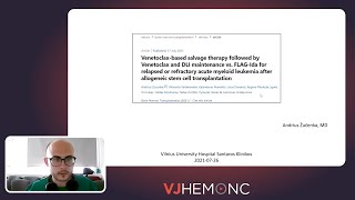 Ven-based salvage followed by ven and DLI maintenance vs. FLAG-ida for R/R AML post-ASCT