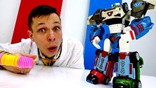 Мультики про роботов трансформеров. Трансформируем Тобота Дельтатрона