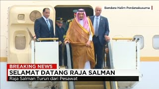 Detik-detik Kedatangan Raja Salman ke Indonesia ; Jokowi Sambut Raja Arab Saudi