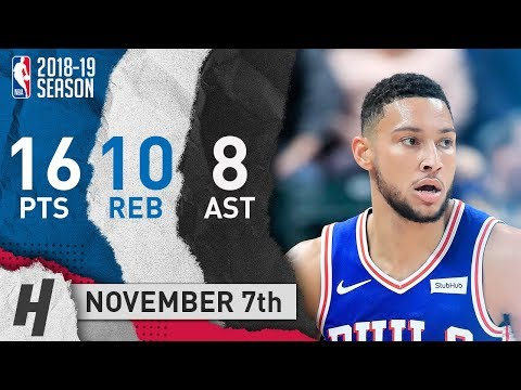 Ben Simmons Full Highlights 76ers vs Pacers 2018.11.07 - 16 Pts, 8 Ast, 10 Rebounds!