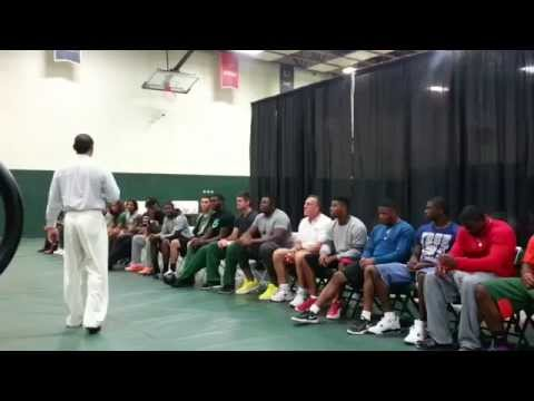 UM Football Team Hypnotized by Lenny Moore Pt 1 of 3