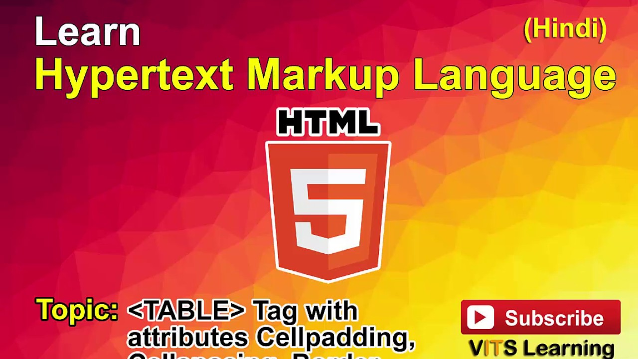 31 html table tag with attributes cellpadding cellspacing for Html table padding