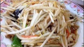 Жареные Ростки Фасоли И Вкусные Китайские Блюда ☆ Обед Из Азии ☆