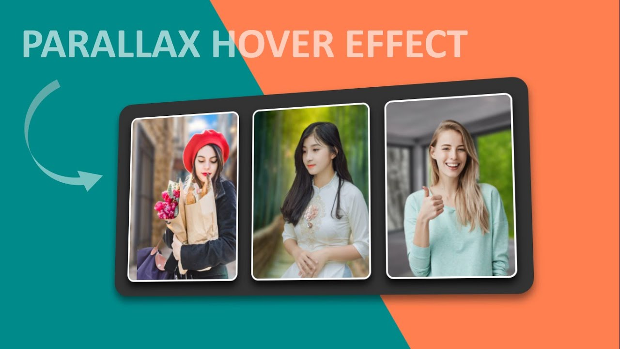 3D Parallax Image Hover Effect | Javascript Mousemove 3D parallax Effect