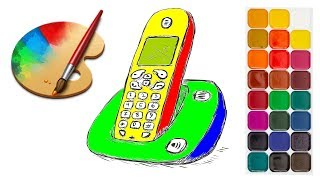 How to Draw iPhone Coloring Pages for Kids | Coloring Pages For Kids Learn Colors #Rans Kids Tv