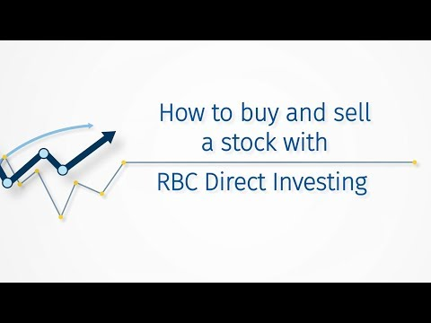 How to buy and sell a stock with RBC Direct Investing