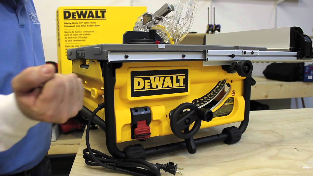 Dewalt dw745 compact job site table saw youtube greentooth