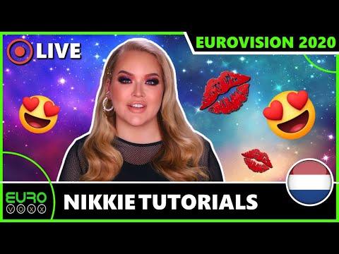NIKKIETUTORIALS FOR EUROVISION 2020! (REACTION) | EUROVOXX LIVE