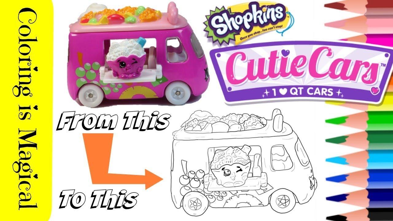 Shopkins Fruity Zoomer Cutie Car Qt2 32 Coloring Page Shopkins Video Color Cutie Cars Youtube