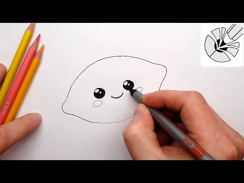 Как нарисовать милый Лимончик - Милые рисунки - Рисование и Раскраска