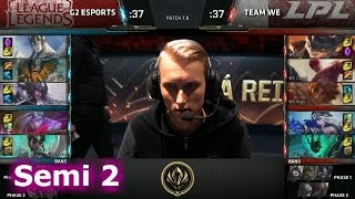 Team WE vs G2 eSports | Game 2 Semi Finals LoL MSI 2017 Play-Offs | WE vs G2 G2 Semi