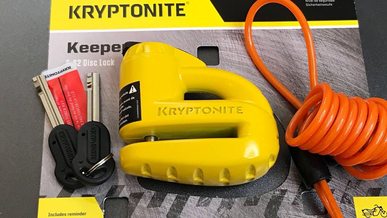 Kryptonite Keeper 5-S2 Motorcycle Disc Brake Lock Yellow