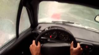 1.6 Mx5 Miata antisocial open diff rain drive GOPRO POV