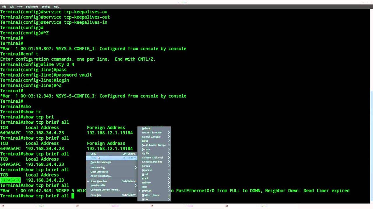 TCP Keepalive on Cisco IOS