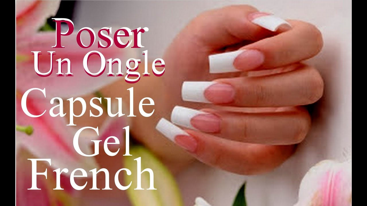 comment poser un ongle en gel uv sur capsule french youtube. Black Bedroom Furniture Sets. Home Design Ideas
