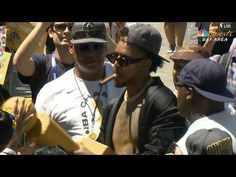 Nick Young & JaVale McGee Go Shirtless - 2018 Golden State Warriors Championship Parade