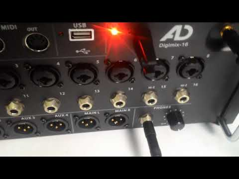 AD DIGIMIX 16 Digital Mixer Wireless Access (Android IOS PC Mac) Startup Demo