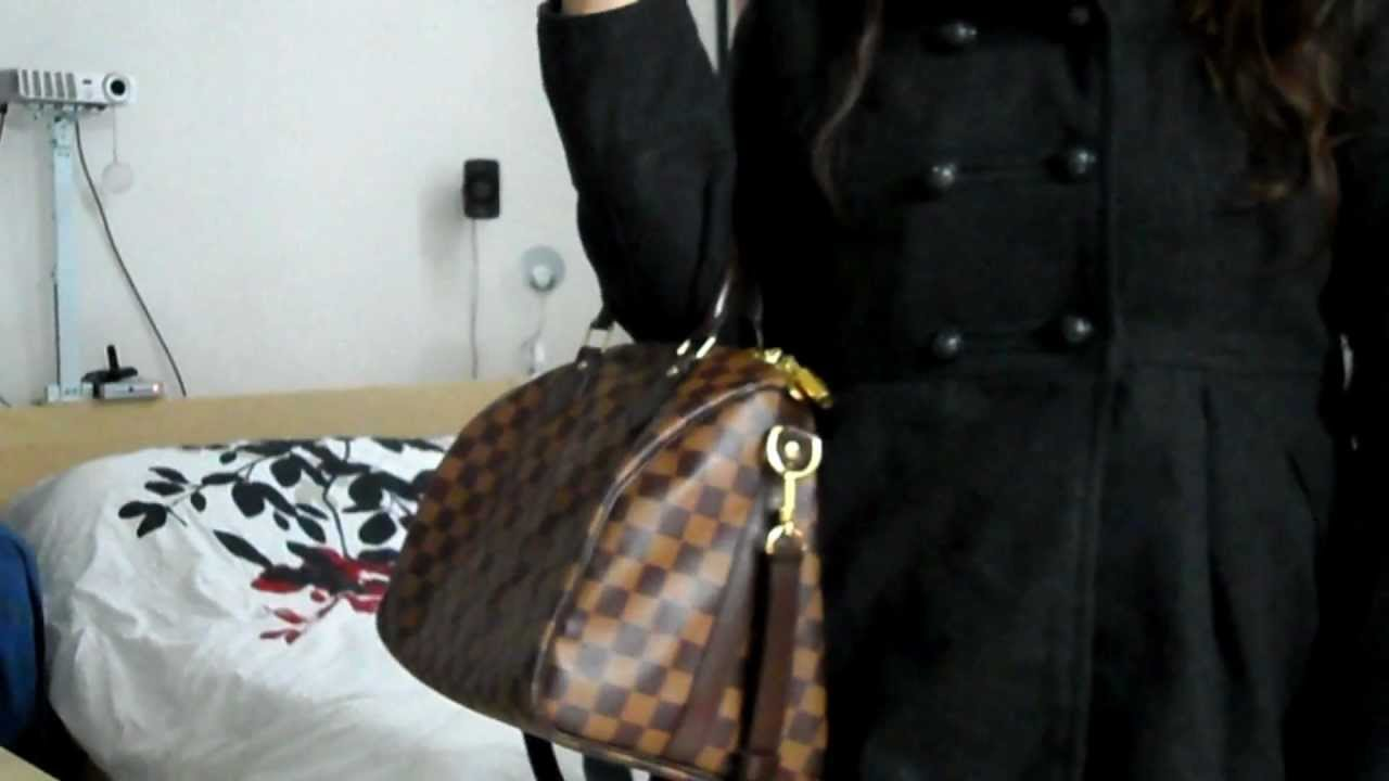 938d47206308 Review  LV speedy 30 bandouliere - YouTube