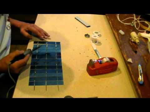 Making a 13v 13w solar panel