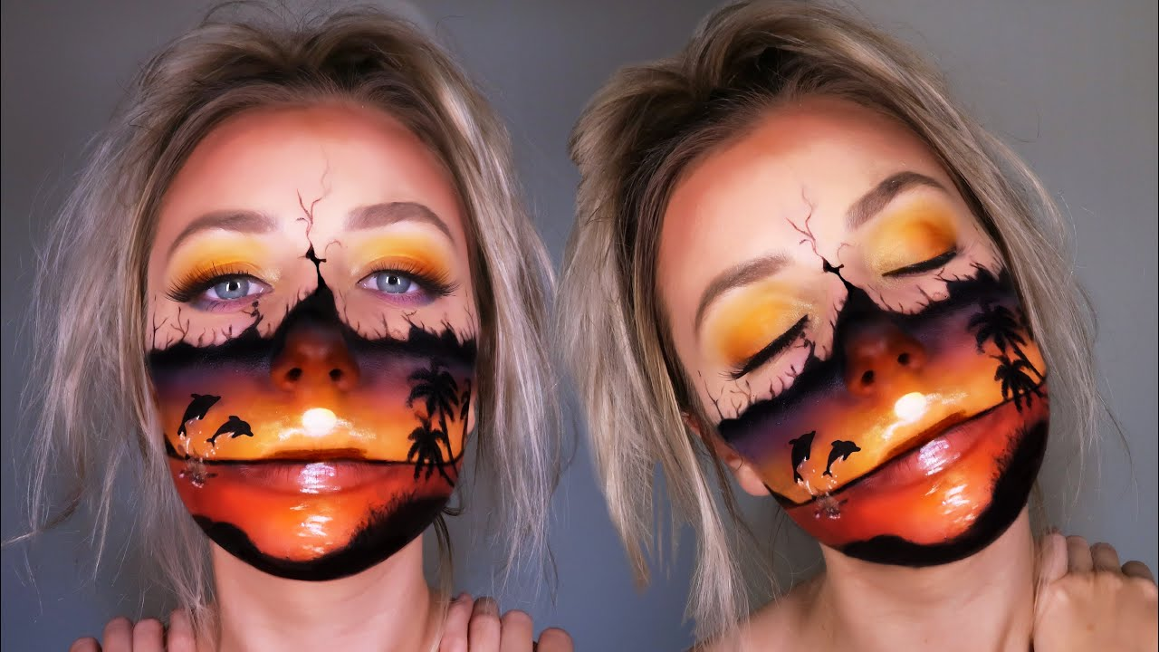 Sunset paradise face art!