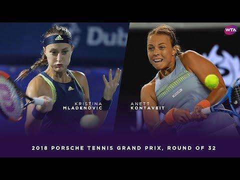 Kristina Mladenovic vs. Anett Kontaveit | 2018 Porsche Tennis Grand Prix First Round