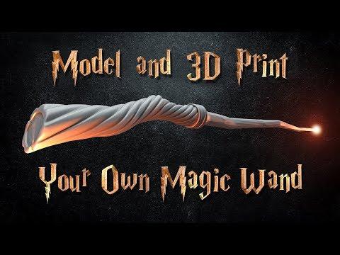 Model and 3D Print a Magic Wand in Blender - Beginner's Tutorial