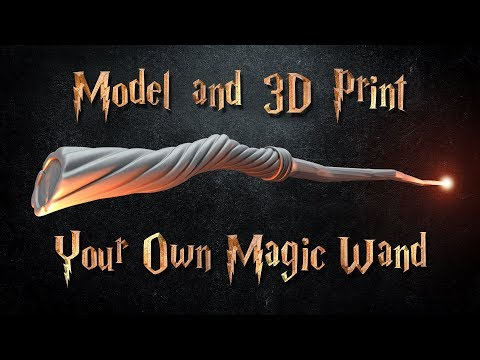 Model and 3D Print a Magic Wand in Blender