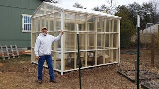 Awesome DIY Greenhouse ! Take a tour with me & see the ventila…