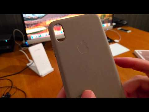 Apple IPhone XS Max Leather Case Unboxing And Testing