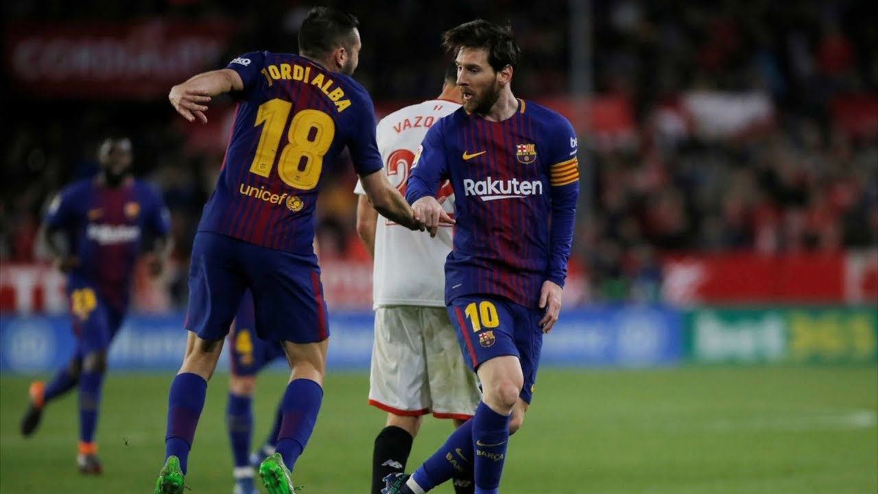 sevilla vs barcelona  2-2   la liga  2018 - match review