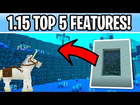 Minecraft 1.15 TOP 5 Features! New Boss, Dimension & Tamable Mobs?