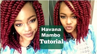 "DIY Havana Mambo Twists Crotchet Tutorial using Burgundy 12"" Hair"