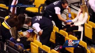 Fans injured in net fall at Bruins game