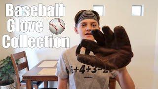 Mason Shows Off His Baseball Glove Collection
