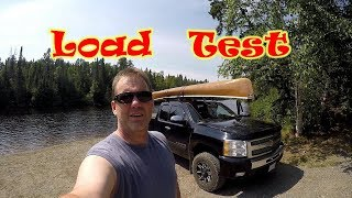 Testing Load in the Solo Wenonah Prism Canoe for Trip